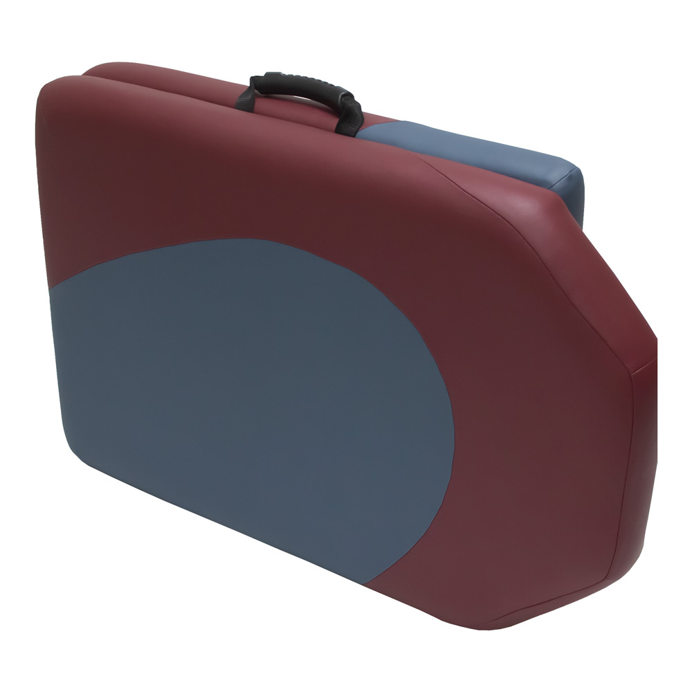 lightweight portable yin.yang design burgundy and agate colors chiropractic table chiroport elite extended neck closed