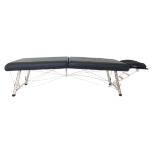 """Chiroport elite """"extra low"""" edition. Lightweight portable chiropractic table with adjustable height range, extra low side view."""